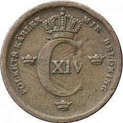 Pièce > ⅓skillingbanco, 1835-1843 - Suède  - obverse