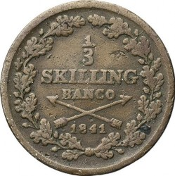 Pièce > ⅓skillingbanco, 1835-1843 - Suède  - reverse