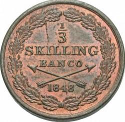 Монета > ⅓скилингбанко, 1844-1855 - Швеция  - reverse