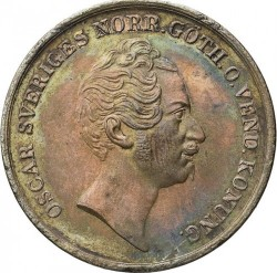 Монета > 2скилингбанко, 1845-1855 - Швеция  - obverse