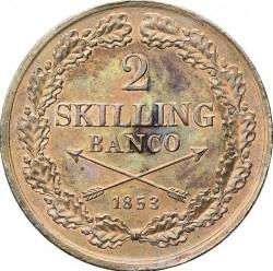 Монета > 2скилингбанко, 1845-1855 - Швеция  - reverse
