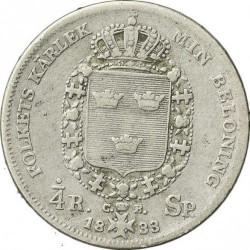 Mynt > ¼riksdalerspecie, 1830-1836 - Sverige  - reverse