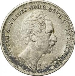 Монета > ½ригсдалерспесие, 1845-1852 - Швеция  - obverse