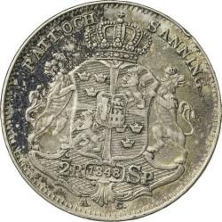 Монета > ½ригсдалерспесие, 1845-1852 - Швеция  - reverse