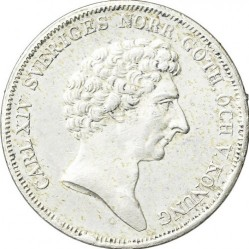 Moeda > 1riksdalerspecie, 1831-1842 - Suécia  - obverse