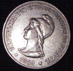 Moneda > 500réis, 1889 - Brasil  - obverse