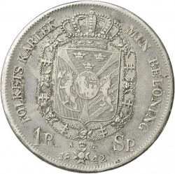 Монета > 1ригсдалерспесие, 1831-1842 - Швеция  - reverse