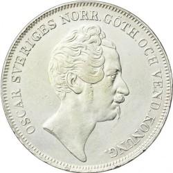 Coin > 1riksdalerspecie, 1845-1855 - Sweden  - obverse
