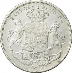 Coin > 1riksdalerspecie, 1845-1855 - Sweden  - reverse