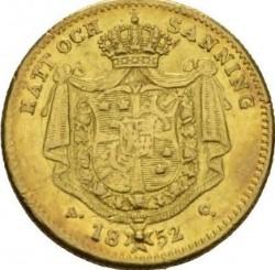 Minca > 1dukát, 1845-1859 - Švédsko  - reverse