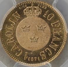 Mynt > 1carolin, 1868-1872 - Sverige  - reverse