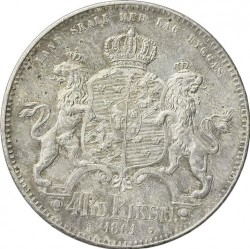 Pièce > 4riksdalerriksmynt, 1861-1870 - Suède  - reverse