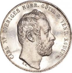 Monedă > 2riksdaleririksmynt, 1862-1871 - Suedia  - obverse