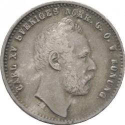 Mynt > 25ore, 1862-1871 - Sverige  - obverse