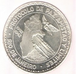 Монета > 20солів, 1992 - Перу  (Rio de Janeiro Protocol) - obverse