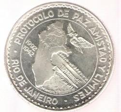 Moneta > 20soles, 1992 - Perù  (Protocollo di Rio de Janeiro) - reverse