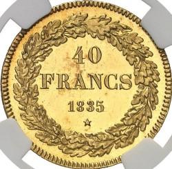 Moneta > 40franków, 1834-1841 - Belgia  - reverse