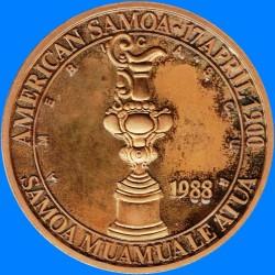 Монета > 1доллар, 1988 - Американское Самоа  (Кубок Америки) - reverse