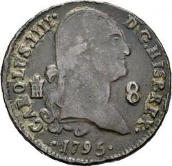 Кованица > 8maravedis, 1788-1808 - Шпанија  - obverse