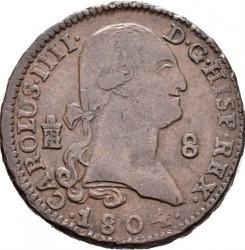 Монета > 8мараведі, 1788-1808 - Іспанія  - obverse