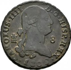 Moneta > 8maravedžiai, 1788-1808 - Ispanija  - obverse
