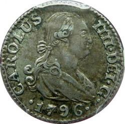 Кованица > ½реала, 1789-1808 - Шпанија  - obverse
