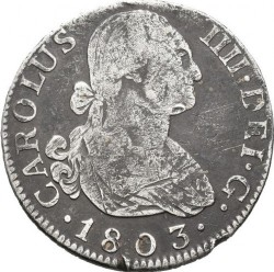 Mynt > 2 reals, 1788-1808 - Spania  - obverse