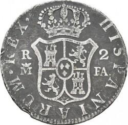 Մետաղադրամ > 2ռեալ, 1788-1808 - Իսպանիա  - reverse