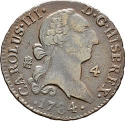 سکه > 4maravedis, 1770-1788 - اسپانیا  - obverse