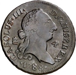 Moneda > 4maravedíes, 1770-1788 - España  - obverse