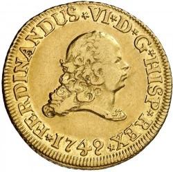 Coin > 2escudos, 1749 - Spain  - obverse