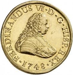 Moneta > 8escudo, 1747-1748 - Hiszpania  - obverse