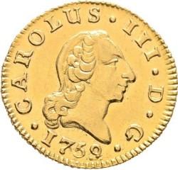 Moneta > ½escudo, 1759-1771 - Hiszpania  - obverse