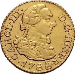 Moneta > ½escudo, 1786-1788 - Hiszpania  - obverse