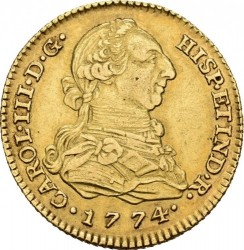 Moneta > 2escudo, 1772-1785 - Hiszpania  - obverse