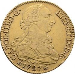 Coin > 8escudos, 1786-1788 - Spain  - obverse