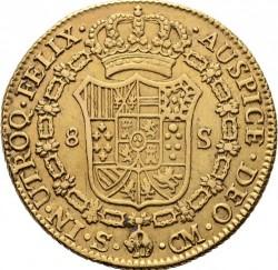 Coin > 8escudos, 1786-1788 - Spain  - reverse