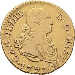 Кованица > ½escudo, 1788-1797 - Шпанија  - obverse