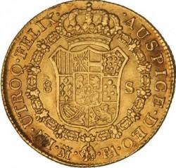 سکه > 8اسکودو, 1788-1805 - اسپانیا  - reverse