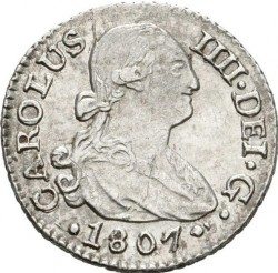 Coin > ½real, 1789-1808 - Spain  - obverse