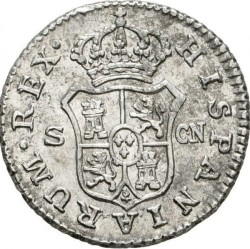Coin > ½real, 1789-1808 - Spain  - reverse