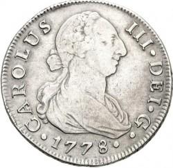 Moneta > 8reali, 1772-1788 - Hiszpania  - obverse