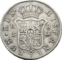 Moneta > 8reali, 1772-1788 - Hiszpania  - reverse