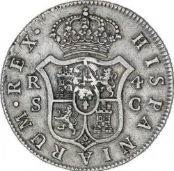 Moneta > 4reale, 1772-1788 - Hiszpania  - reverse