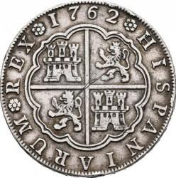 Moneta > 8reali, 1762 - Hiszpania  - reverse
