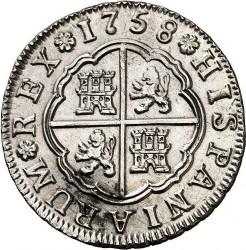 Moneta > 2reale, 1754-1759 - Hiszpania  - reverse