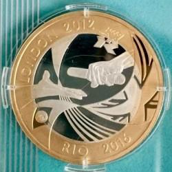 Монета > 2фунта, 2012 - Велика Британія  (Передача Оліміпіади в Ріо) - reverse