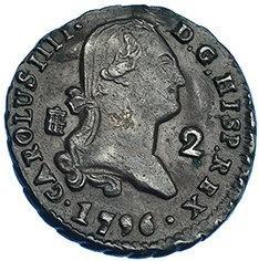 Монета > 2мараведи, 1788-1808 - Испания  - obverse