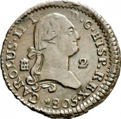 錢幣 > 2馬拉維第, 1788-1808 - 西班牙  - obverse