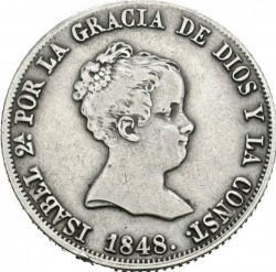 Coin > 4reals, 1837-1849 - Spain  - obverse